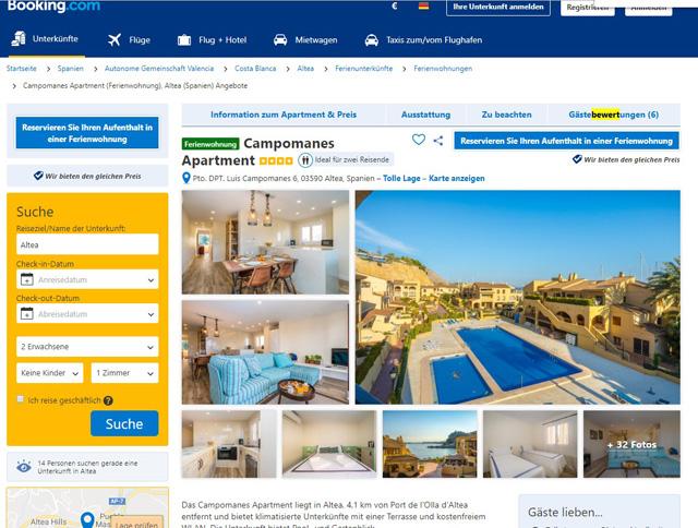 booking.com Ferienwohnungen