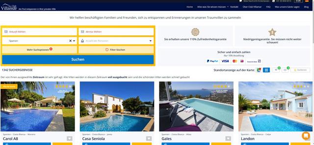 clubvillamar.de – Ferienwohnungen Angebote