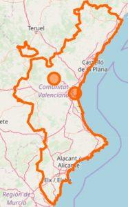 altea.me Karte Comunidad Valenciana OpenStreetMap