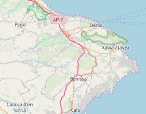 altea.me Karte Marina Alta OpenStreetMap