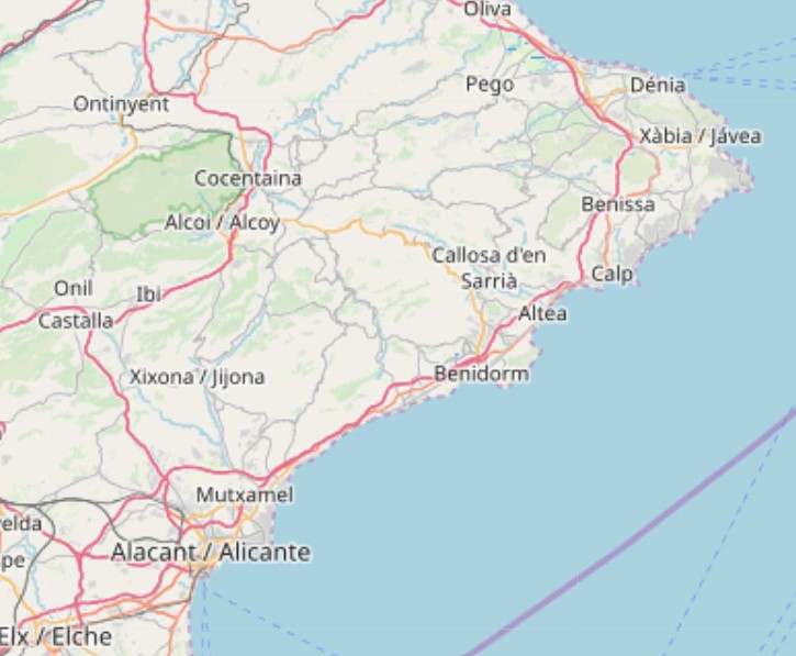 altea.me Karte Map Mapa Provinz / Province / Provincia de Alacant Alicante