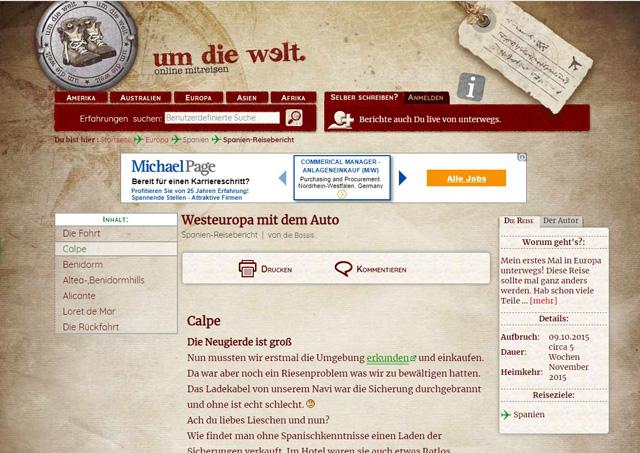 umdiewelt.de – Reisebericht Altea, Benidorm, Calp