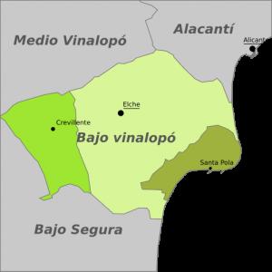 Karte Bajo Vinalopó Aufmacherbild Ayuntamientos