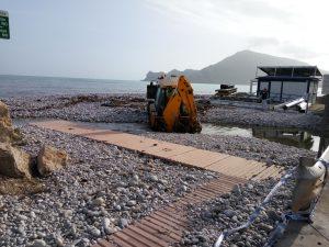 Altea Spanien Costa Blanca Orkan Strand Richtung Albir Sturm Gloria 29
